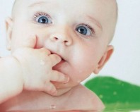 Грудничок с пальцами во рту