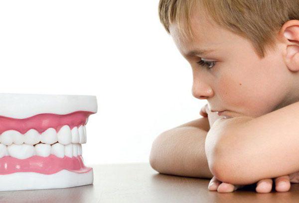 Мальчик и игрушечная челюсть