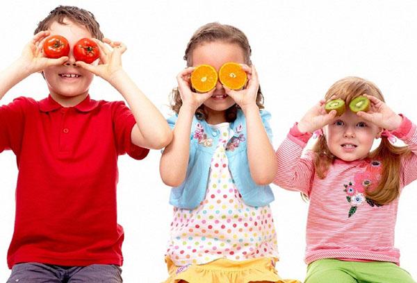 Дети и ползные продукты для иммунитета