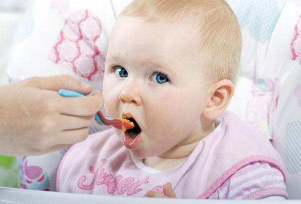 Кормление ребенка с ложечки