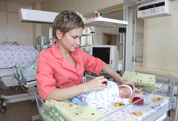 Новорожденный в больнице