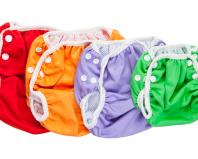 разноцветные подгузники