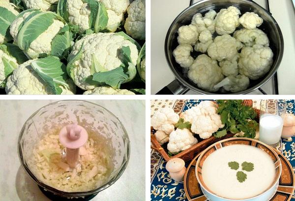 приготовление пюре из капусты