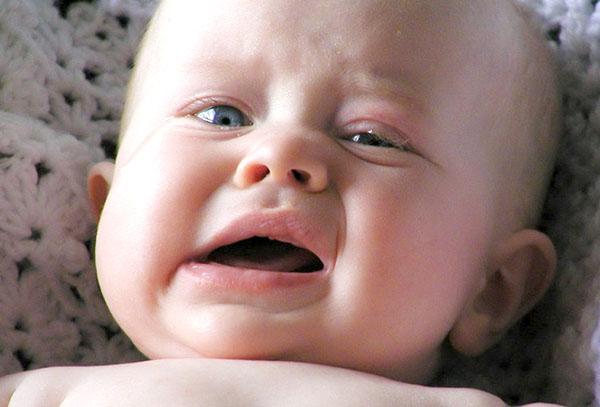У малыша забит носик