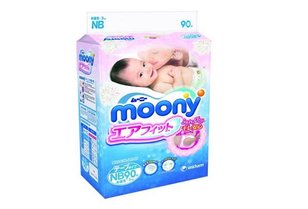 Японские памперсы Moony для новорожденных