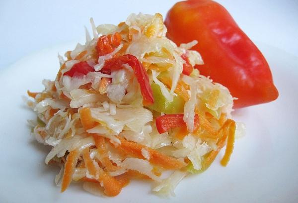 Очень легкий овощной салатик