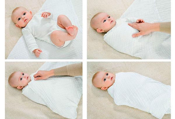 Как пеленать новорожденного: тугое и свободное пеленание