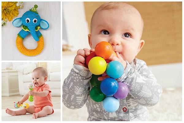 Разновидности погремушек для малышей