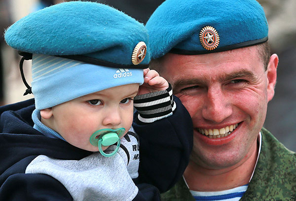 Десантник с сыном