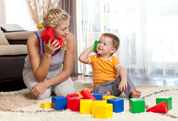 Игровое занятие с ребенком