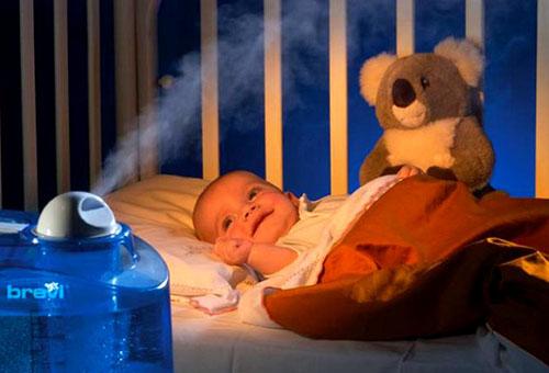 Увлажнитель воздуха в детской