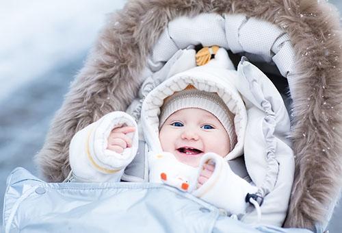 Зимняя прогулка с грудничком
