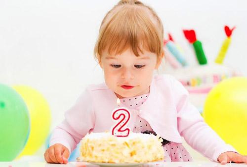 Торт на день рождения двухлетней девочке
