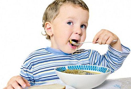 Обед ребенка в 3 года