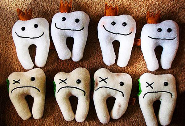 Мягкие игрушки - зубы