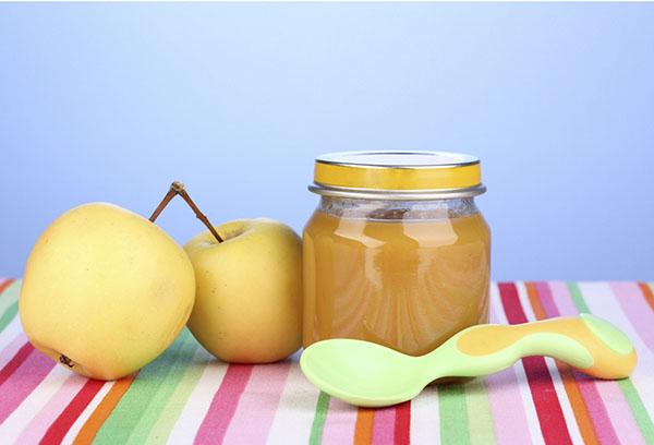 Яблочное пюре для прикорма