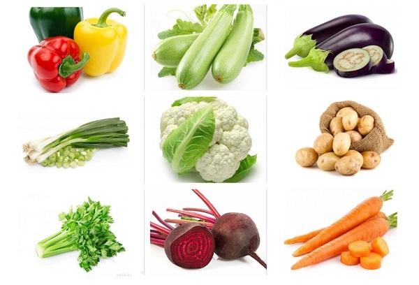 разные овощи