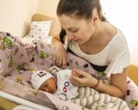 Мама с новорожденным