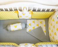Желтые бортики в кроватку
