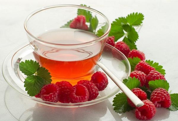 равяной чай с медом и малиной от кашля