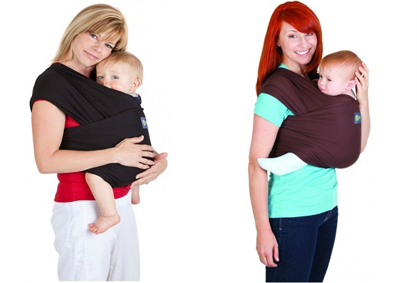 две девушки с детьми в слинге