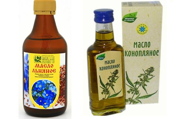 Конопляное и льняное масла