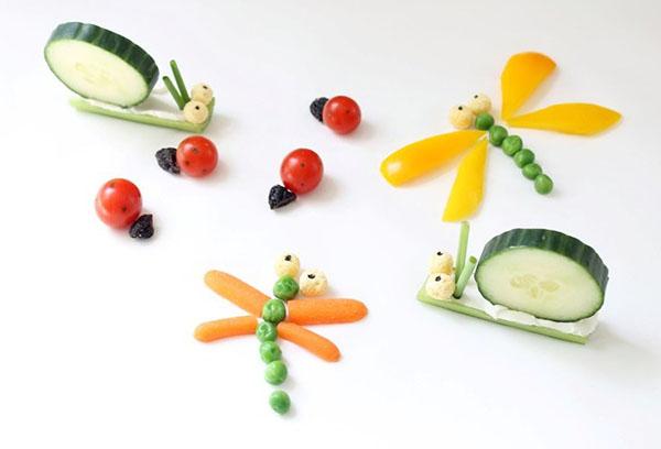 Фигурки из овощей
