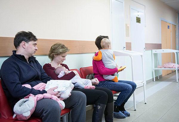 Очередь в детской поликлинике
