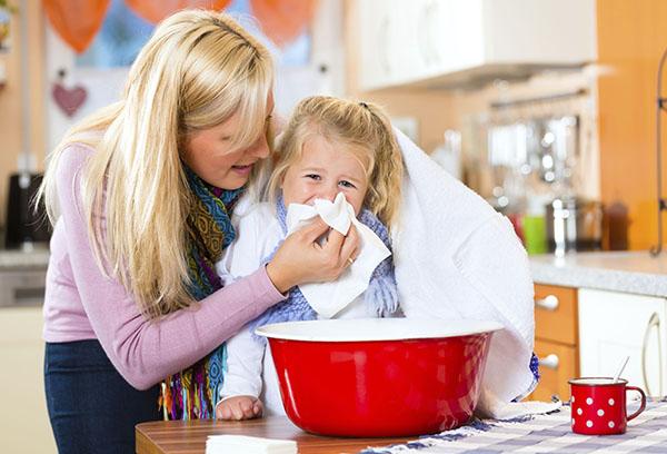 Паровая ингаляция при кашле у ребенка