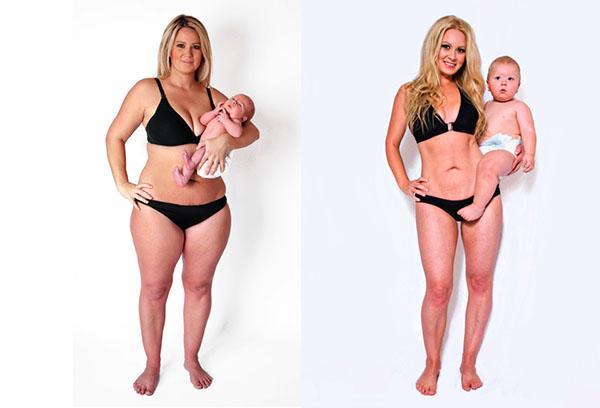 Результаты похудения после родов