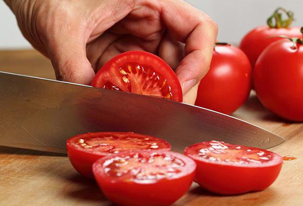 Резка помидоров